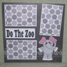 """Do The Zoo Elephant""-Premade Scrapbook Page 12x12"