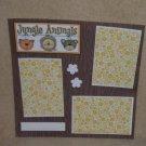 """Jungle Animals t""-Premade Scrapbook Page 12x12"