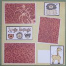 """Jungle Animals""-Premade Scrapbook Page 12x12"