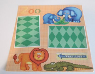 """""""Zoo a12""""-Premade Scrapbook Page 12x12"""