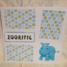 """Zooriffic nw""-Premade Scrapbook Page 12x12"