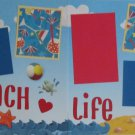 """Beach Life dbl""-Premade Scrapbook Pages 12x12-Double Page Layout"