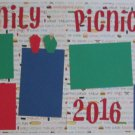 """""""Family Picnic 2016 dbl""""-Premade Scrapbook Pages 12x12-Double Page Layout"""