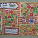 """""""Cancer dbl""""-Premade Scrapbook Pages 12x12-Double Page Layout"""