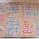 """Gingerbread Workshop dbl""-Premade Scrapbook Pages 12x12-Double Page Layout"