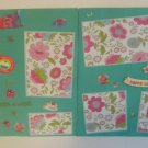 """Hooray Make A Wish dbl""-Premade Scrapbook Pages 12x12-Double Page Layout"