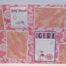 """""""Hush Little Baby Girl dbl""""-Premade Scrapbook Pages 12x12-Double Page Layout"""