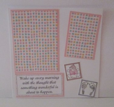 """""""Baby Girl w/Poem""""-Premade Scrapbook Page -8x8 Layout"""