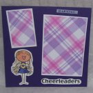 """Cheerleaders""-Premade Scrapbook Page -8x8 Layout"