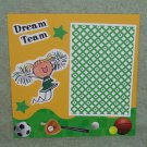 """""""Dream Team Cheerleader Girl""""-Premade Scrapbook Page -8x8 Layout"""