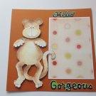 """Hello Gorgeous Monkey""-Premade Scrapbook Page -8x8 Layout"