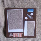 """Mr Fix It Saw""-Premade Scrapbook Page -8x8 Layout"