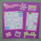 """""""Our Adventure Girls""""-Premade Scrapbook Page -8x8 Layout"""