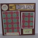 """""""Our Boy Play""""-Premade Scrapbook Page -8x8 Layout"""