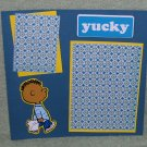 """Peanuts Yucky""-Premade Scrapbook Page -8x8 Layout"