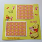 """""""Pooh and Piglet""""-Premade Scrapbook Page -8x8 Layout"""