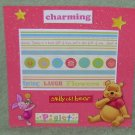 """Pooh Charming""-Premade Scrapbook Page -8x8 Layout"