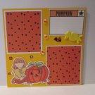 """Pumpkin Girl""-Premade Scrapbook Page -8x8 Layout"
