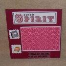 """""""School Spirit""""-Premade Scrapbook Page -8x8 Layout"""