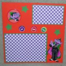 """Sesame St Count""-Premade Scrapbook Page -8x8 Layout"