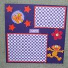 """Sesame St Zoe Life""-Premade Scrapbook Page -8x8 Layout"