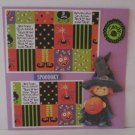 """Spooooky Witch""-Premade Scrapbook Page -8x8 Layout"