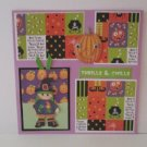 """Thrills and Chills Witch""-Premade Scrapbook Page -8x8 Layout"