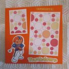 """Touchdown Football""-Premade Scrapbook Page -8x8 Layout"