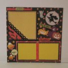 """Trick or Treat Magic""-Premade Scrapbook Page -8x8 Layout"