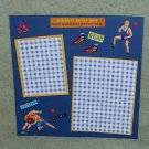 """Wrestlers 1""-Premade Scrapbook Page -8x8 Layout"