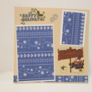 """Happy Holidays Snowman""-Premade Scrapbook Page -8x8 Layout"