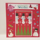 """""""I Love Winter""""-Premade Scrapbook Page -8x8 Layout"""