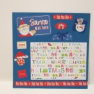 """Santa Was Here""-Premade Scrapbook Page -8x8 Layout"