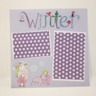 """Winter Snow Friends""-Premade Scrapbook Page -8x8 Layout"