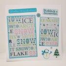 """""""Winter Wonderland""""-Premade Scrapbook Page -8x8 Layout"""