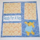 """""""Pooh Ready For A Nap""""-Premade Scrapbook Page 12x12"""