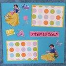 """Snow White Memories""-Premade Scrapbook Page 12x12"