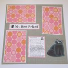 """My Best Friend Lost Cat""-Premade Scrapbook Page 12x12"