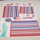 """America""-Premade Scrapbook Page -8 1/2 x 11""  Layout"