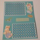 """Daddy and Me a""-Premade Scrapbook Page -8 1/2 x 11""  Layout"