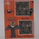 """Fright Nigh Trick or Treat""-Premade Scrapbook Page -8 1/2 x 11""  Layout"