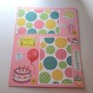 """Happiest of Birthdays""-Premade Scrapbook Page -8 1/2 x 11""  Layout"