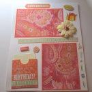 """Happy Birthday Celebrate""-Premade Scrapbook Page -8 1/2 x 11""  Layout"