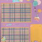 """Happy Birthday""-Premade Scrapbook Page -8 1/2 x 11""  Layout"
