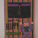 """Happy Hallowen Bat""-Premade Scrapbook Page -8 1/2 x 11""  Layout"