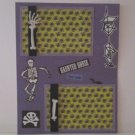 """Haunted House Skeleton""-Premade Scrapbook Page -8 1/2 x 11""  Layout"