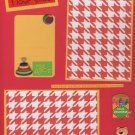 """I Love School""-Premade Scrapbook Page -8 1/2 x 11""  Layout"