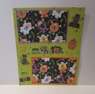 """""""Little Monster""""-Premade Scrapbook Page -8 1/2 x 11""""  Layout"""
