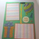 """Make A Wish Birthday""-Premade Scrapbook Page -8 1/2 x 11""  Layout"