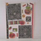 """Trick or Treat Boo Frog""-Premade Scrapbook Page -8 1/2 x 11""  Layout"